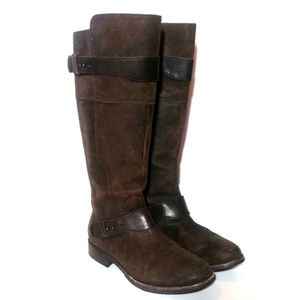 Ugg Distressed Leather Riding Boots